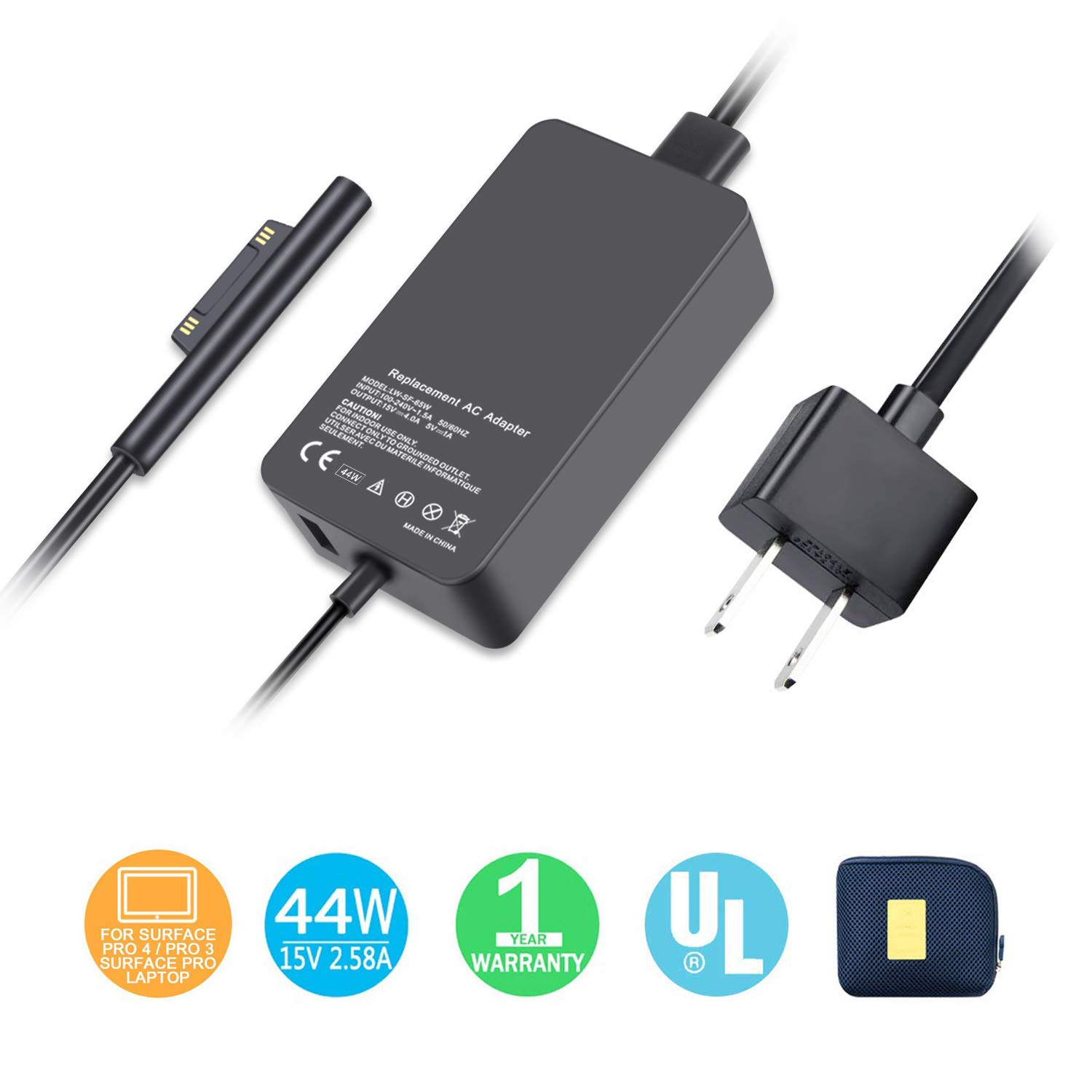 amazon com surface charger 44w power supply compatible for rh amazon com