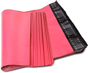 SJPACK 10x13 Hot Pink Poly Mailers 2.5 Mil Envelopes Plastic Shipping Bags With Self Sealing Strip