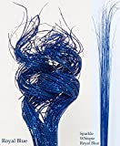 GreenFloralCrafts 2.5 Ft Extra Tall Sparkle ROYAL BLUE Curly Ting, (Approx. 40-50 Stems)- & WISPIES! Party Table Centerpieces
