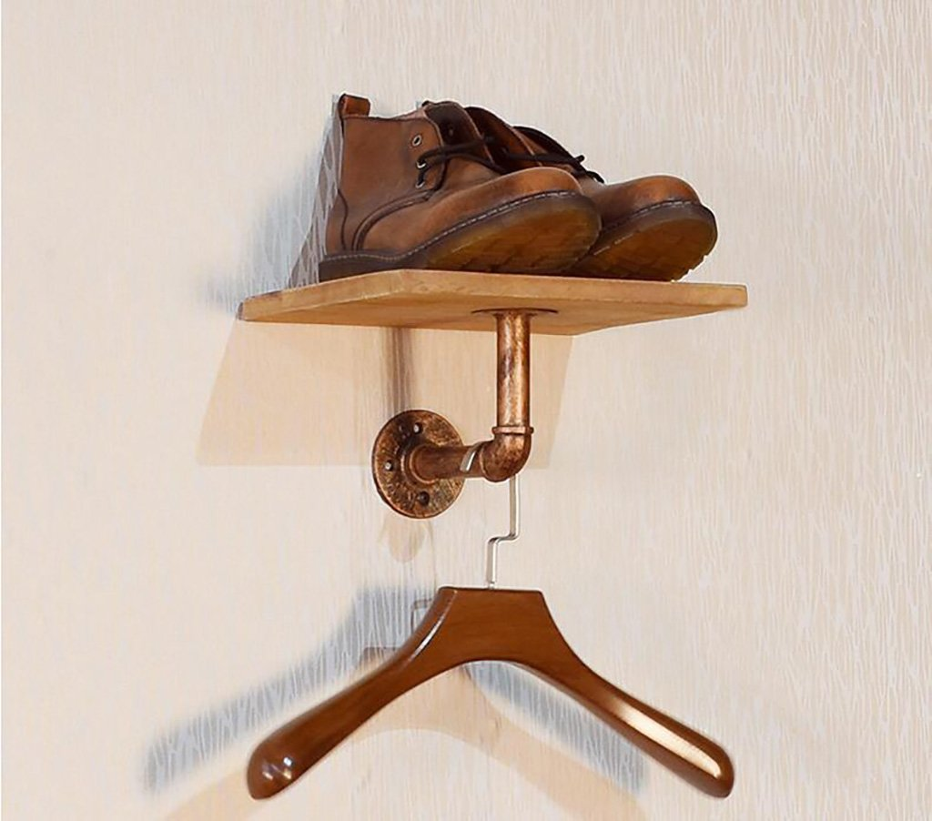 Floating Shelves Coat Rack Retro Iron Plumbing Plates Clothes Racks Hanging Stands Garment Racks Hanging Hangers Industrial wall frame