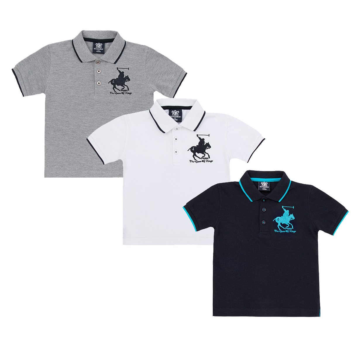 Cargobay Boys Horse Embroidered Short Sleeve Polo T-Shirt