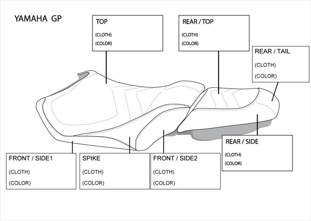 JET-TRIM(ジェットトリム) ヤマハ/オーダー シートカバー 2ピース スパイク YAM GP/ORDER   B00X18ZT04