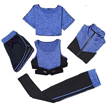 Amazon.com: Xiejuanjuan Women Yoga Suit Womens Sports Suit ...