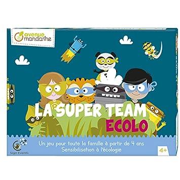 Avenue Mandarine - Juego de Bandeja, Team Ecolo, js003 C, Sujetadores: Amazon.es: Juguetes y juegos