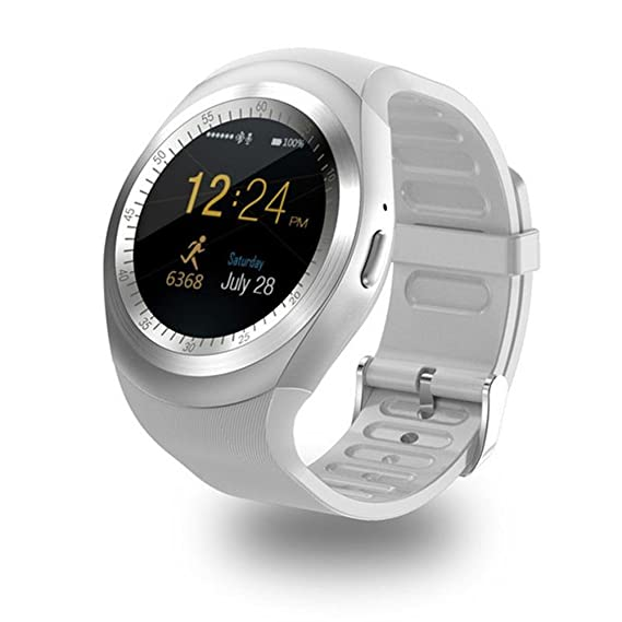 Amazon.com: Smart Watch SN05 Round Bluetooth Smartwatch with ...