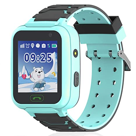 Kids Smartwatch Waterproof Phone with WiFi/GPS/LBS Tracker – Smart Watch for Girls Boys with SOS Call Camera Touch Screen Game Alarm Children Digital ...
