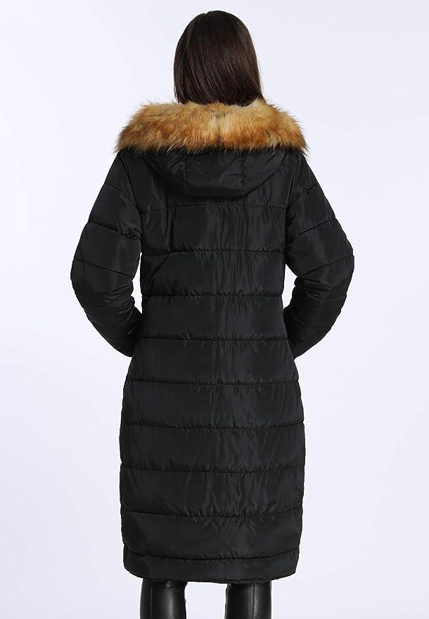 dcb4c6f132bc iLoveSIA Grosse Parka Manteau Hiver Longue Noir avec Capuche Femme T.36-46   Amazon.fr  Vêtements et accessoires