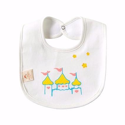 T-CMKJ Baby tableware Babero Babero de bebé algodón toalla de saliva ...
