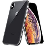 iPhone XS Max ケース TopACE クリア スリム TPU カバー 落下 衝撃 吸収 擦り傷防止 iPhone XS Max 用 カバー (クリア)