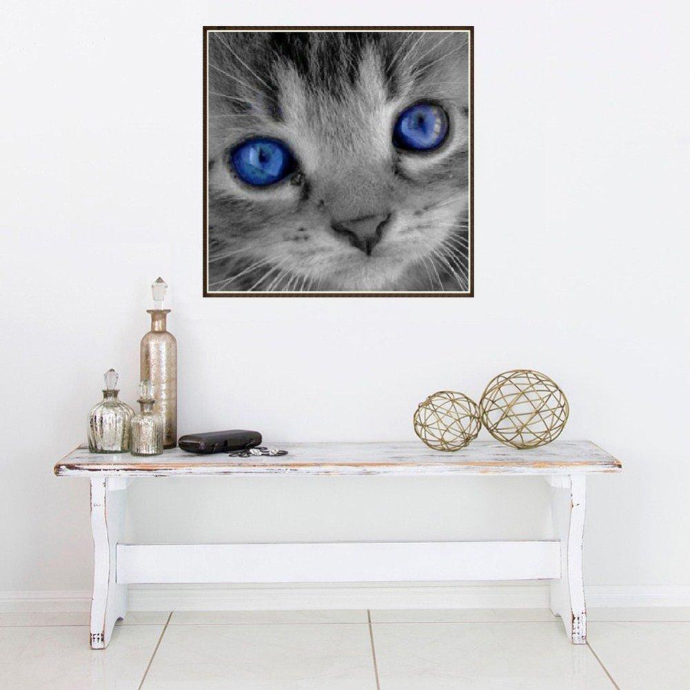 Amazon.com: angel3292 DIY Frameless Diamond Embroidery Painting Cat Pattern Cross Stitch Wall Decor (8028): Home & Kitchen