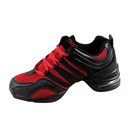 super popular eeca0 d1b0b uirend Schuhe Sport Outdoorschuhe Tanzschuhe Damen - Mesh Lace Up Schuh  Modern Tanz Jazz Tango Gymnastik Sportschuhe Freizeit Training Sneaker ...