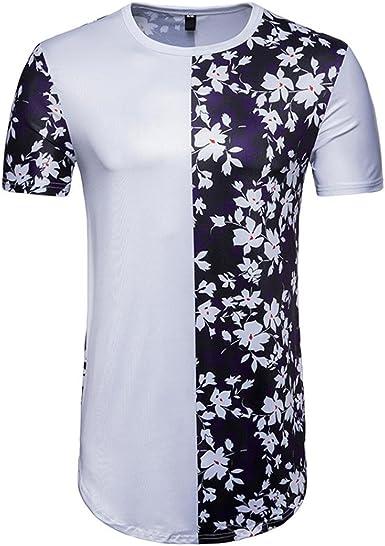 FAMILIZO T Shirts For Men Blusa Hombre Blanca Camisetas Manga Corta Hombre Moda Camisetas Hombre Algodón Camisetas Hombre Verano Blusa Hombre Manga Corta Tops Mens Tops: Amazon.es: Ropa y accesorios