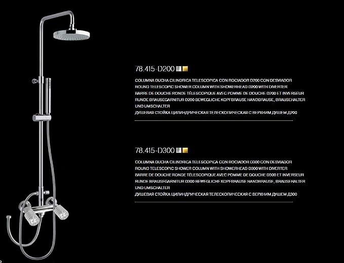 maier Kryos bimando ducha batería Set con telescópica barra de ...