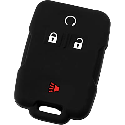 KeyGuardz Keyless Entry Remote Car Smart Key Fob Outer Shell Cover Soft Rubber Protective Case for Chevy GMC Sieraa Silverado: Automotive