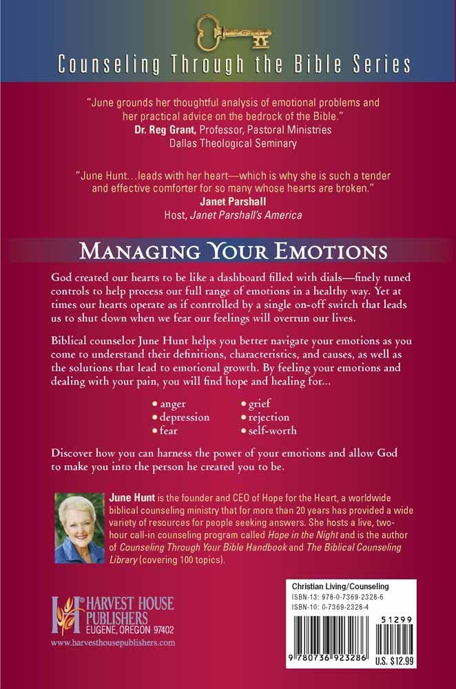 how to handle your emotions anger depression fear grief rejection self worth counseling through the bible series