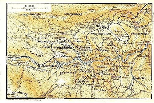 Southern Poland Map.Amazon Com Schrieberhau Valley Region Poland 1925 Color Lithograph