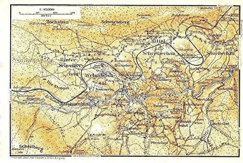 Southern Poland Map.Amazon Com Schrieberhau Valley Region Poland 1925 Color Lithograph