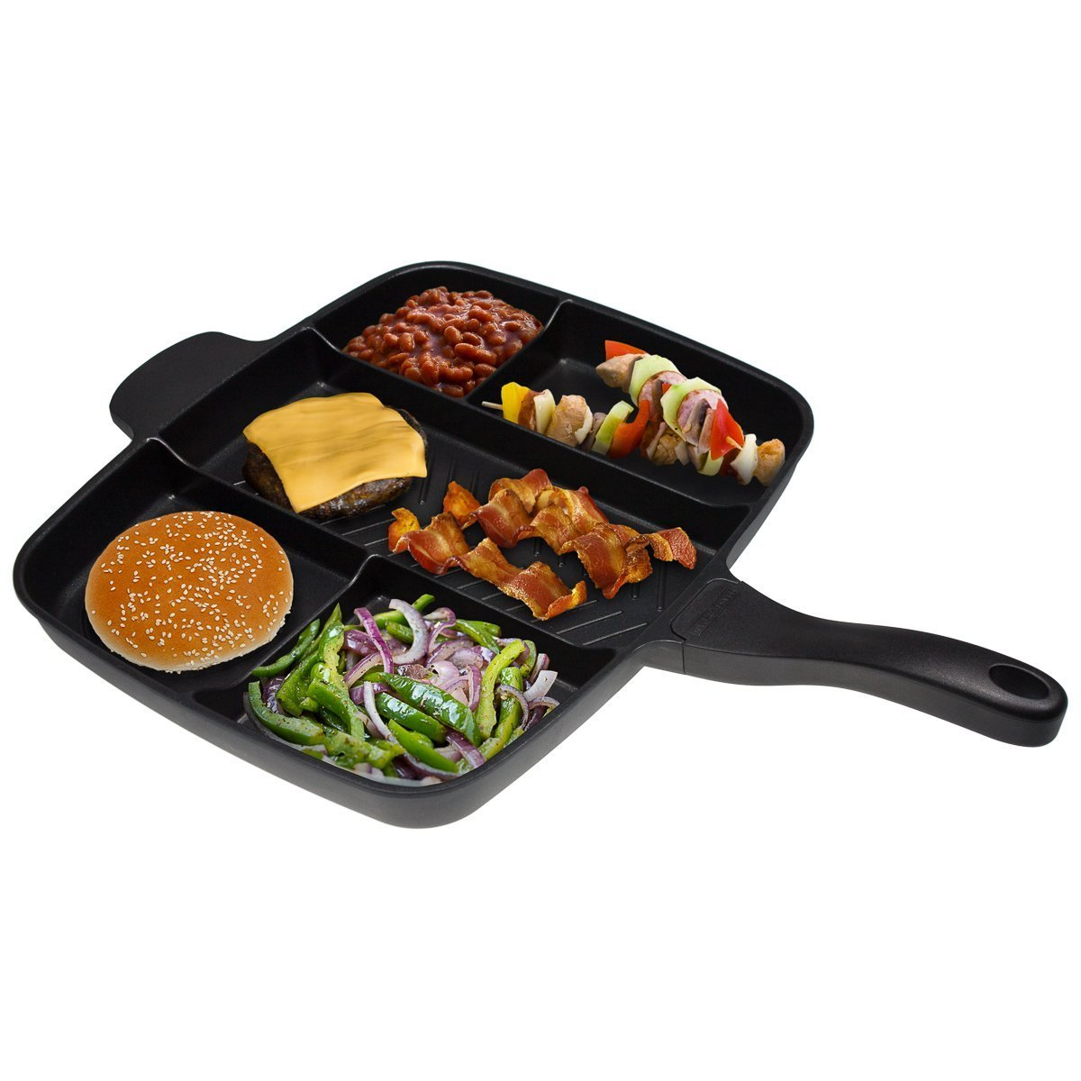 Amazon.com: NewYorkTonerTM Master Pan Non-Stick Divided Grill - Fry - Owen Meal Skillet, 15