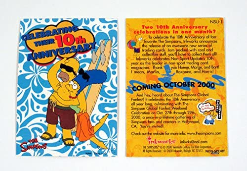 THE 2000 INKWORKS PROMO CARD P-1 BART SIMPSONS 10TH ANNIVERSARY