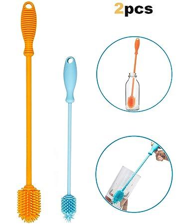 Amazon.com: Cepillo de limpieza de botellas de silicona ...