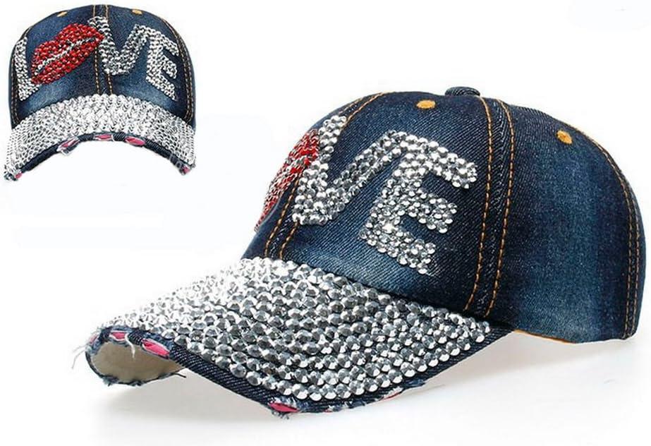 Home Prefer Five Star Vintage Trucker Hat Adjustable Rhinestones Twill Cotton Baseball Cap