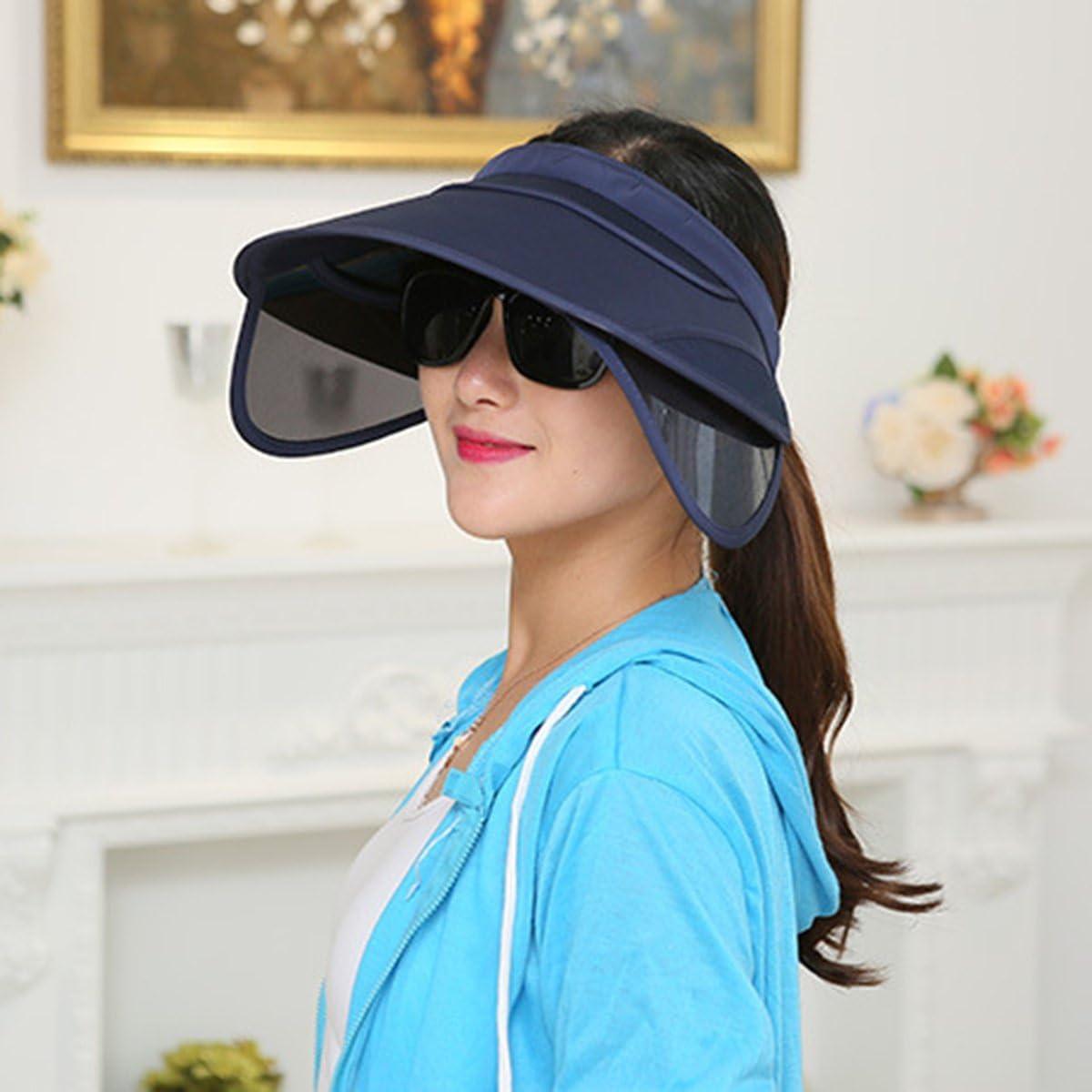Beige TININNA Sombrero,Moda Sombrero Visera de Sol del Verano Mujeres Escalable Plegable resiste UV Gorro del Playa Viaje Ciclismo