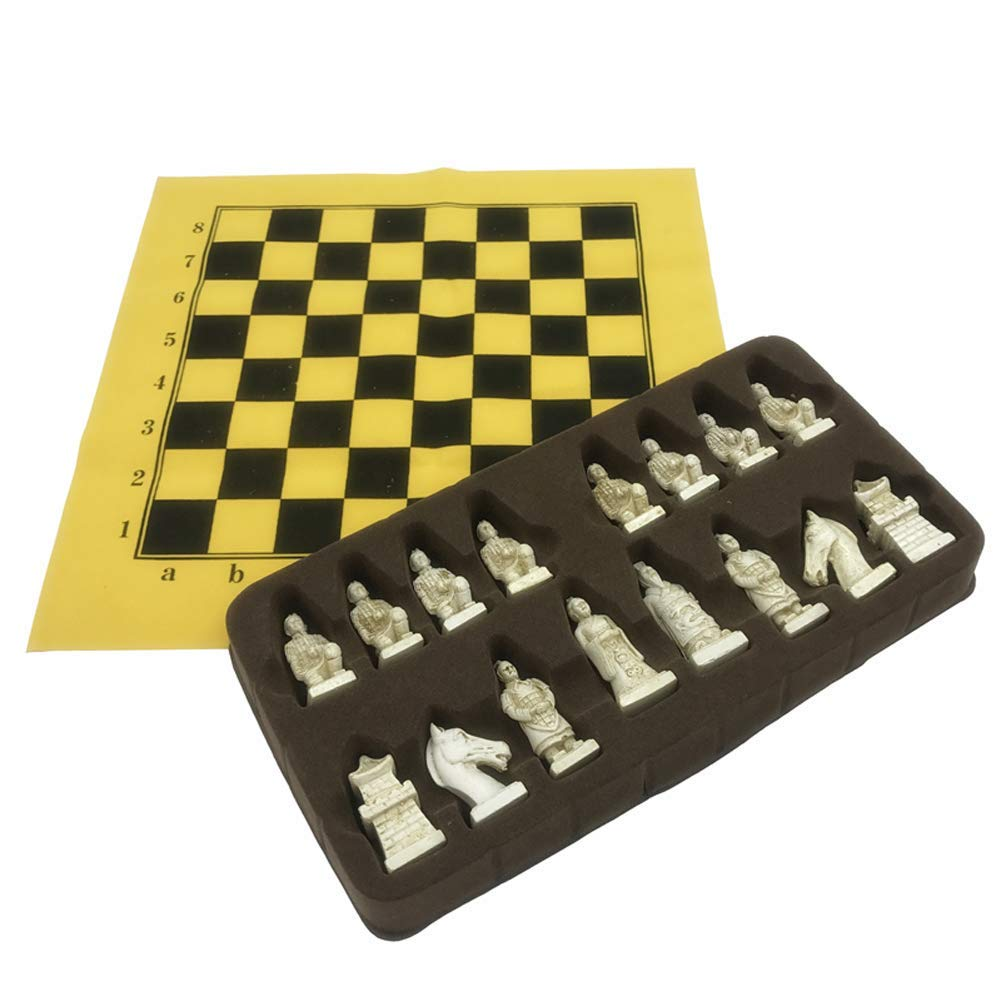 "chessboard -- Chess Resin Hand Painted /""Waterloo/"" King H 4,3 CM"