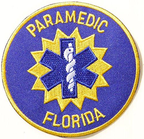 [Paramedic Florida Emt Ems Rescue Patch Iron On Uniform Suit Bag Costume Cosplay] (Best Halloween Costume Florida)