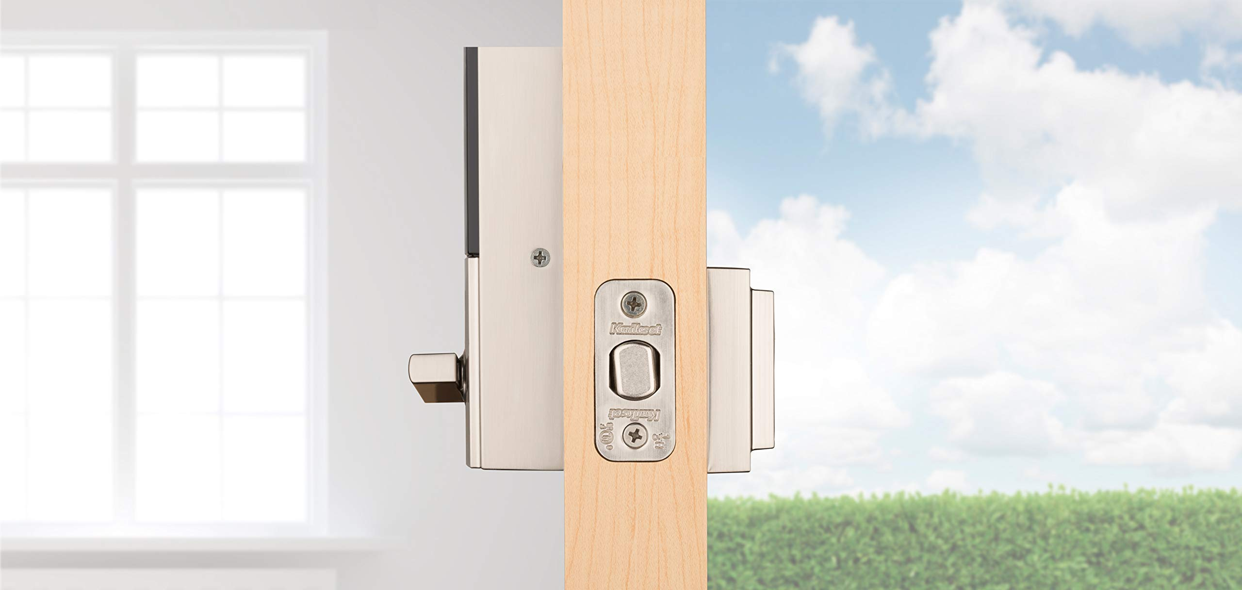 Kwikset 99250-206 Kevo 2nd Gen Contemporary Square Single Cylinder Touch-to-Open Bluetooth Deadbolt Satin Nickel by Kwikset (Image #4)
