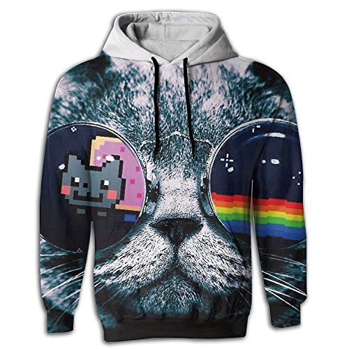 Cooly9a Cat Sunglasses Men Best Fashion Pullover Hooded - Fat Sunglasses For Faces