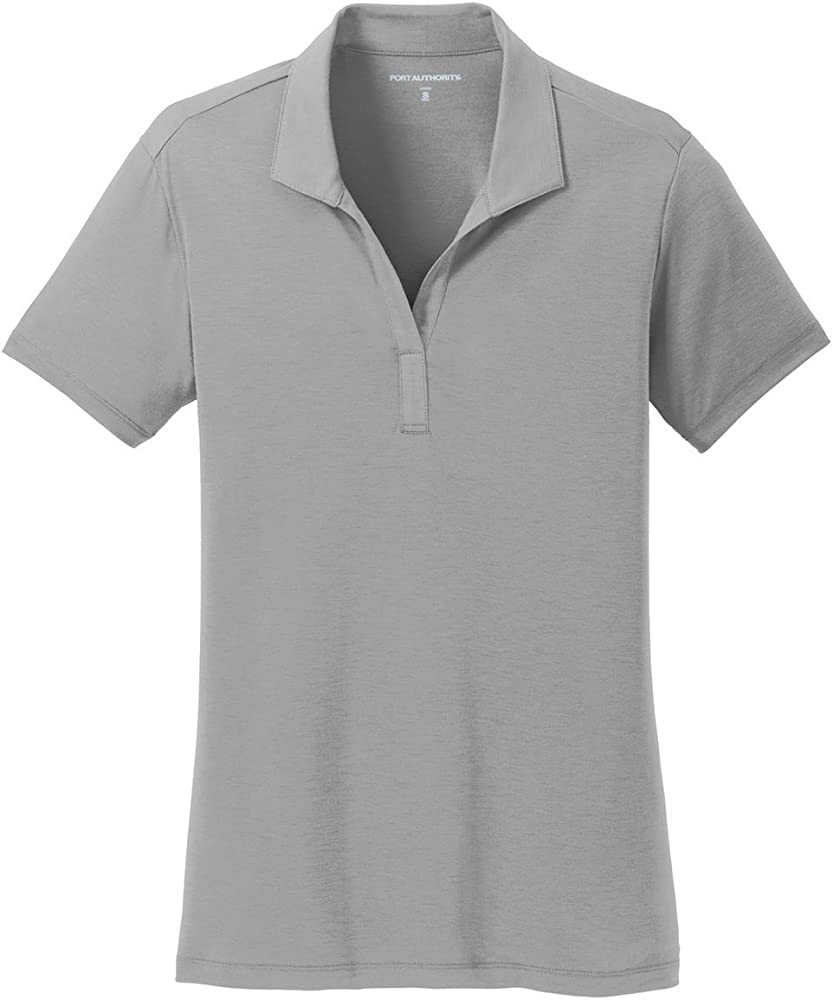 Port Authority Ladies Cotton Touch Performance Polo>3XL Frost Grey ...
