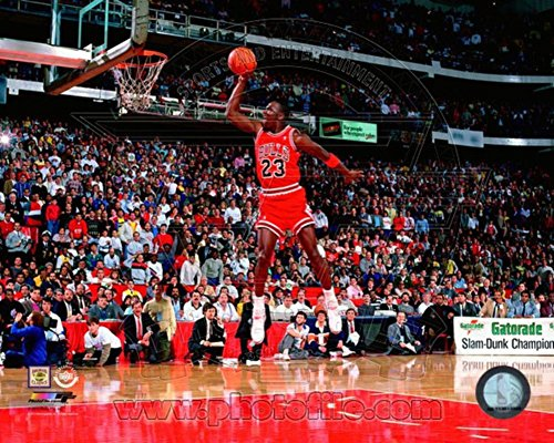 Michael Jordan 1988 NBA Slam Dunk Contest Action Photo 10 x - Photos Slam Dunk Nba