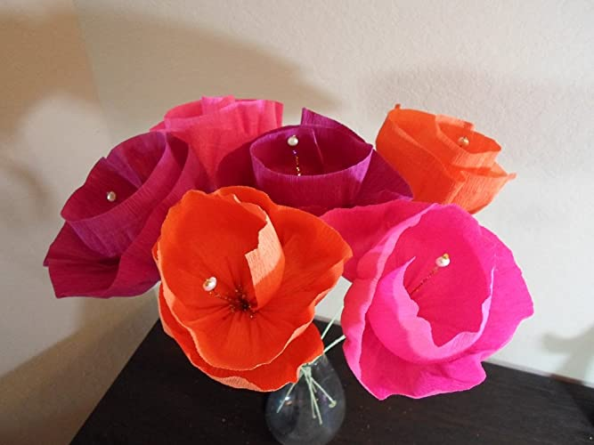 Amazon Large Mexican Flowers Set Of 6 Mexican Crepe Paper
