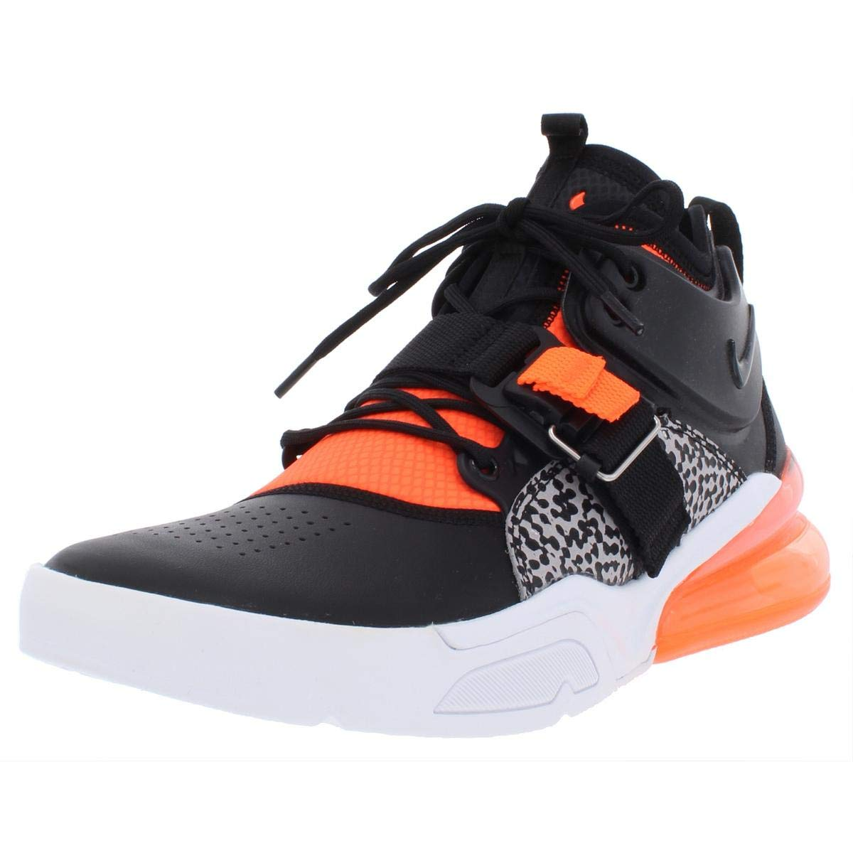 5c5d92655fc Galleon - Nike Mens Air Force 270 Leather Off-Court Basketball Shoes Black  9 Medium (D)