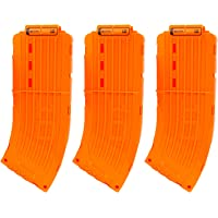 EKIND 10 Darts Clips Soft Bullet Quick Reload Clips Compatible for Nerf Elite Magazine Toy Gun (Orange, 3Pcs)