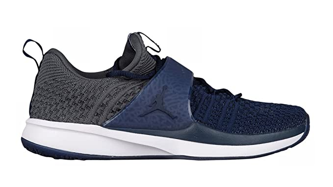 595fad26b8d8e3 Image Unavailable. Image not available for. Color  Jordan Brand Derek Jeter  Re2pect Trainer 2 Flyknit College Navy ...