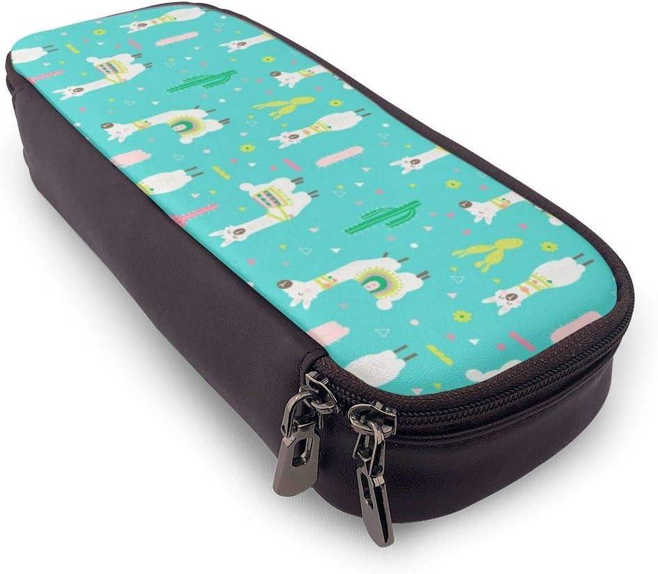 fxxy Bolígrafo/Estuche para lápices Leather Pencil Case for School Students Office HappyPen Pencils Box: Amazon.es: Oficina y papelería