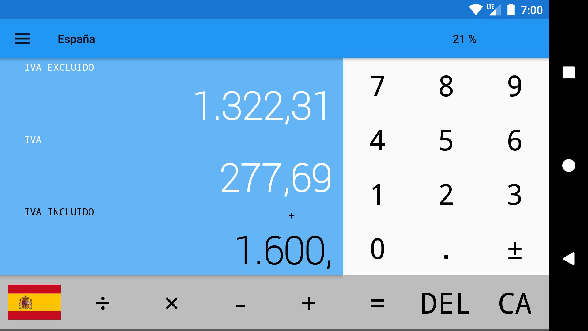 Calculadora IVA