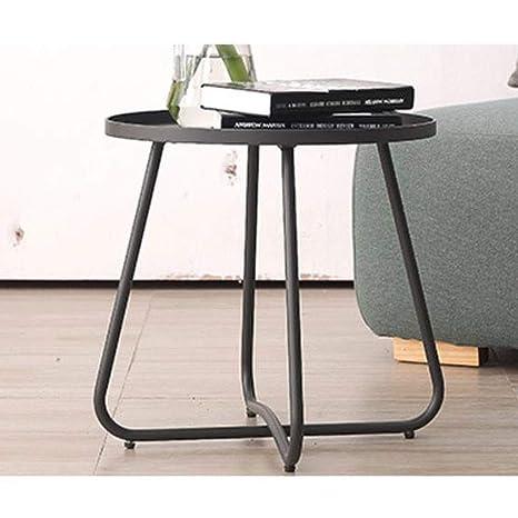 ACZZ Mesa auxiliar para sofá, pequeña mesa auxiliar moderna ...