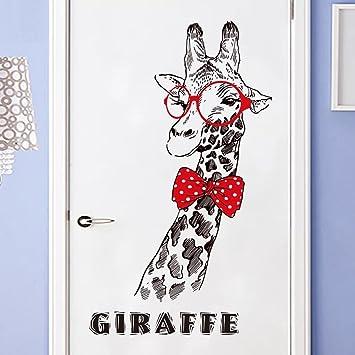 Wandsticker4u Wandtattoo Mr Giraffe Wandbild 75x129 Cm Art