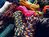 Stockstill Outdoor Supply Type III 550 Paracord / 7 Strand - 100% Nylon Core and Shell 550 lb Tensile Strength Parachute Cord for Camping, Go-Bags, Hiking, SHFT, Bracelets, Knife Lanyards & More