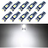 T5 LED Bulb Dashboard Dash Lights White 6000K 3030 SMD Wedge Base for Car Truck Instrument Indicator Air Conditioning AC…