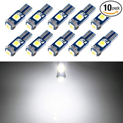 T5 LED Bulb Dashboard Dash Lights White 6000K 3030 SMD Wedge Base for Car Truck Instrument Indicator Air Conditioning AC Lamp Auto Interior ...