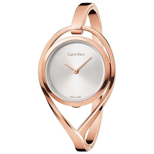 Calvin Klein Reloj Analogico para Mujer de Cuarzo con Correa en Acero Inoxidable K6L2M616: Amazon.es: Relojes