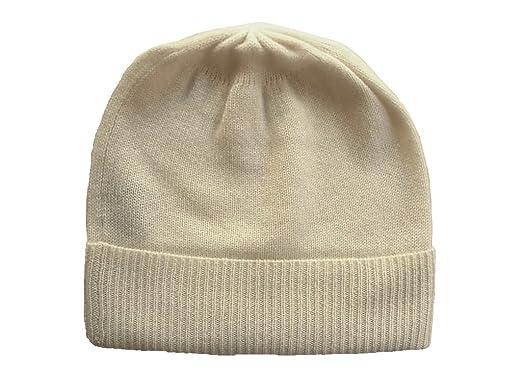 ce71ed39c98 Amazon.com  White Pure 100% Cashmere Beanie Skull Ski Hat  Clothing