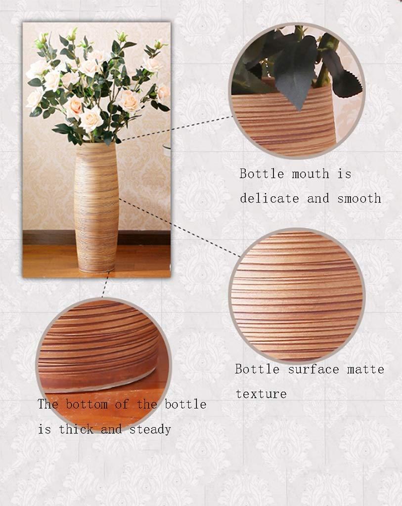 Style Europ/éen Atterrissage Grand Vase Moderne Salon Cr/éatif Maison Pot en Argile Blanche C/éramique Vase D/écoration 60CM Vase Grand Vase /Étage Vase Plante Vase Vase /À Fleur LIZIQI SYHPDT Vase en C/éramique