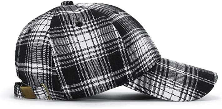 JAMONT Gorra de béisbol enrejada de algodón unisex Protección ...