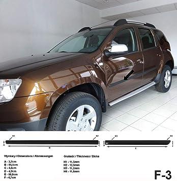 Spangenberg Listones de protección Lateral, Color Negro, para Dacia Duster I SUV Combi, año de construcción 04.2010-12.2017 F3 (370000303): Amazon.es: Coche ...