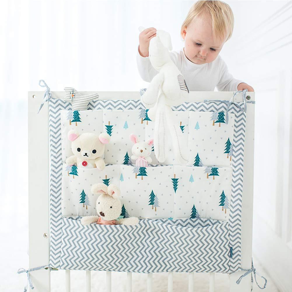 Organizador para cuna de bebé, organizador para cuna de bebé, organizador para cuna, cama de bebé, bolsa de almacenamiento, multibolsillos, ...