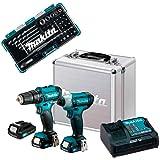 Kit Furadeira/Parafusadeira de Impacto 12V Bivolt + Bateria e Acessórios CLX228SAX-P MAKITA